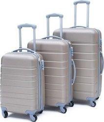 Σετ βαλίτσες ταξιδίου (σαμπανιζέ-γκρί) ST13 OEM_Beige