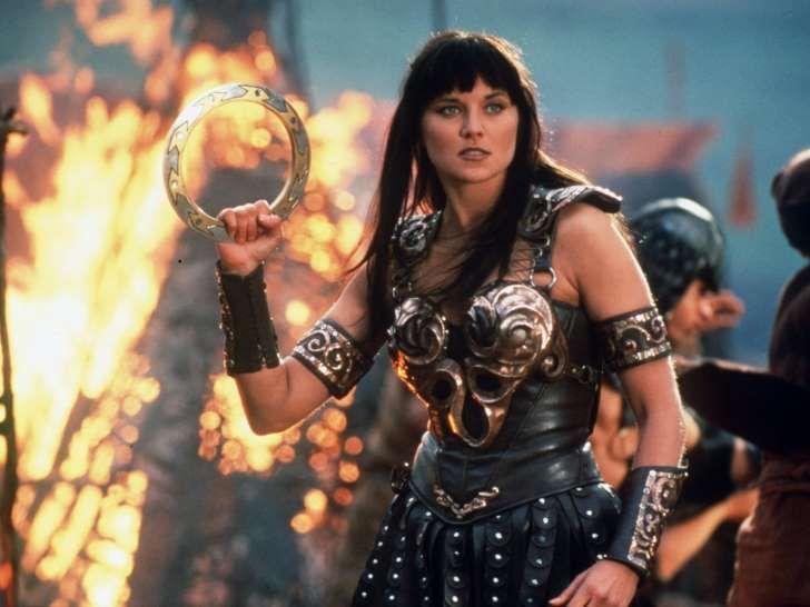 Lucy Lawless como Xena, la princesa guerrera
