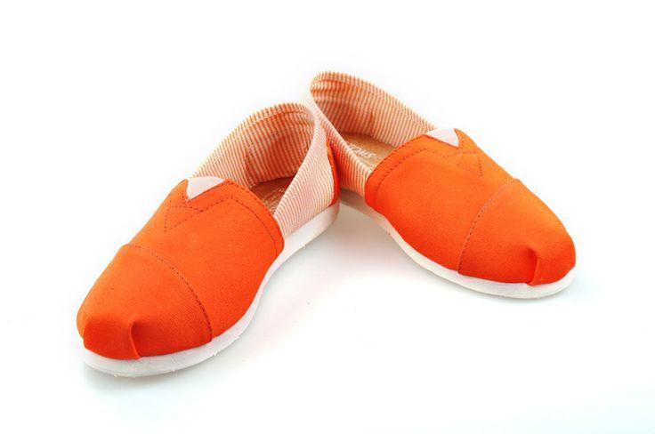 Toms Shoes Side Striped Women Orange