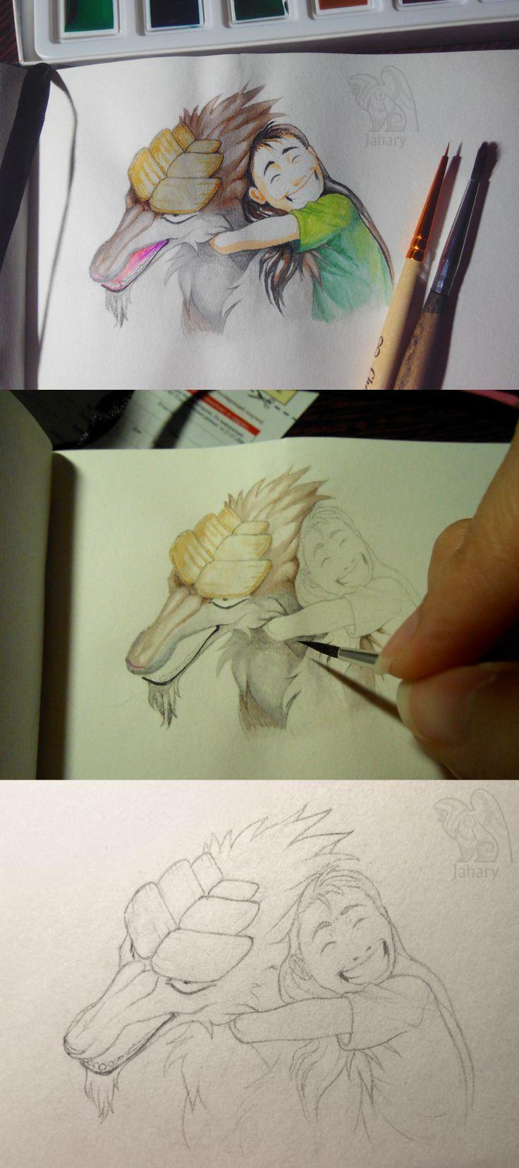 Watercolor in sketchbook