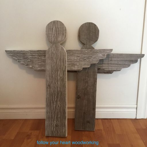 DIY reclaimed wood Christmas angels by Follow Your Heart Woodworking
