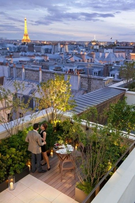 Beautiful Parisian patio....
