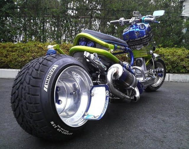 Stretched-out wheel on a Homda Zoomer: Ass Bike, Badass Motorcycles, Honda Ruckus, Motorcycles Mayhem, Bike Design, Custom Motorcycles, Ace Custom, Custom Scooters, Honda Zoomer