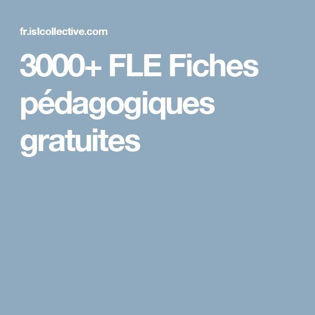 3000+ FLE Fiches pédagogiques gratuites