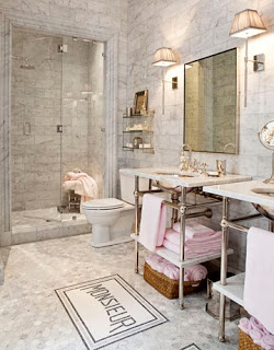 I Usually Wouldnu0027t Prefer Pink In A Bath But In Here Itu0027s Just So French, I  Canu0027t Resist It! This French Bathroom, Designed By Betty Lou Ph.