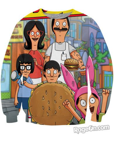 Bob's Burgers Crewneck Sweatshirt - RageOn! - The World's Largest All-Over-Print Online Store