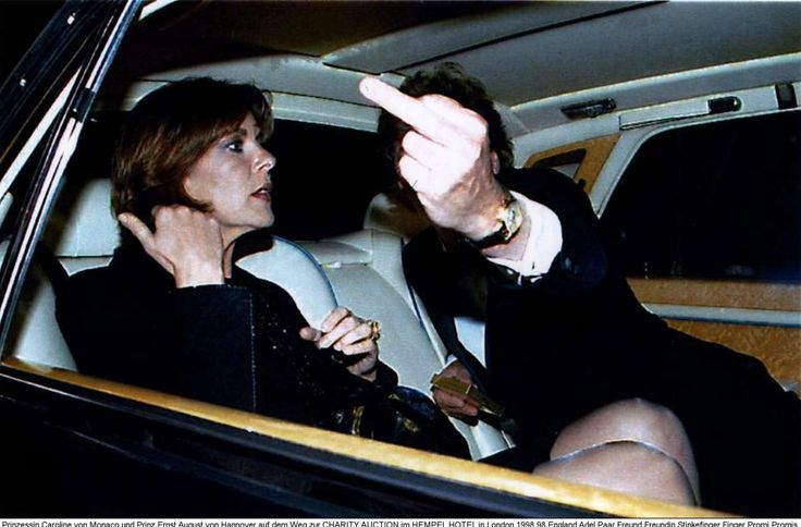 Prinzessin Caroline von Monaco und Hannover  Prinz Ernst-August von Hannover   Blick am Abend