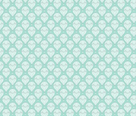Hot Air Balloon - mint fabric by hazel_fisher_creations on Spoonflower - custom fabric Surface pattern design - hot air balloons in mint colour scheme.  Also available on wallpaper and gift wrap. Would be great for using in nurseries!
