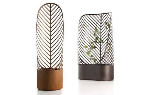 SCREEN-POTS BY FRANCOIS CLERC    Climbing plants add a fresh dimension to your outdoor garden, and with these Screen-Pots by Francois Clerc, you don't need a wall or a tacky trellis to enable vines to grow. This gorgeous pair of planters designed for De Castelli will let your English ivy truly travel.