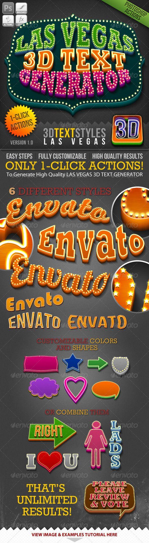 1-Click Action: Las Vegas 3D Text Generator  download : http://graphicriver.net/item/1click-action-las-vegas-3d-text-generator/781836?ref=pakdheanto