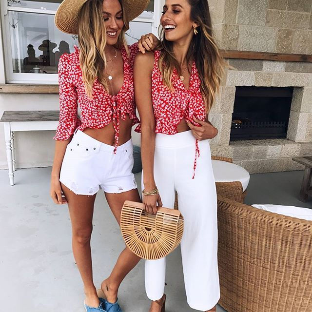 Day to night☀️✨Wear the Brave Fields Top with denim shorts for a daytime look and the A Million Times Top with some white pants for a chic nighttime look...Shop new arrivals!   #muraboutique #confidentlybeautiful