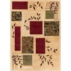 Barclay Hannover Ivory 7 ft. 10 in. x 9 ft. 10 in. Modern Geometric Area Rug