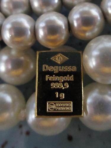 1 gram .9999 fine 24K GOLD Degussa Bar from Degussa, Germany