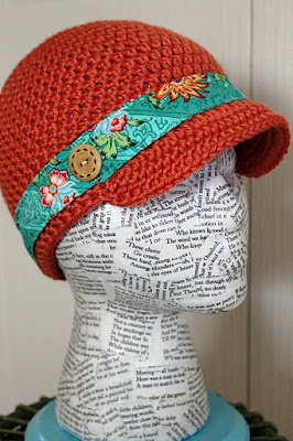 Hat display from paper mâché...MUCH better than the styrofoam balls I was using.