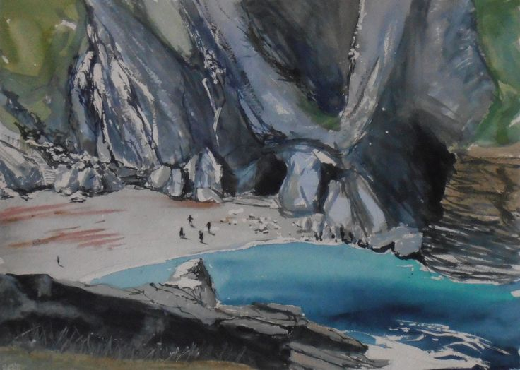 The Haven Tintagel from Drawn to the Edge 2012, Watercolour on paper