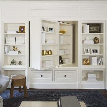 tv cabinet in living room pivoting bookcase and tv cabinet transitional living 23110