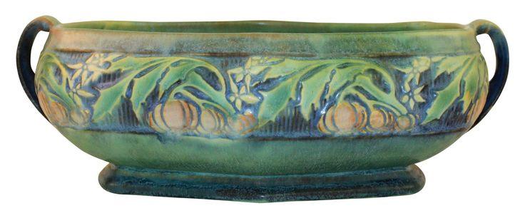 Roseville Pottery Baneda Green Bowl 233-8