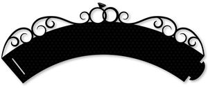 Silhouette Online Store - View Design #31317: wedding cupcake wrapper