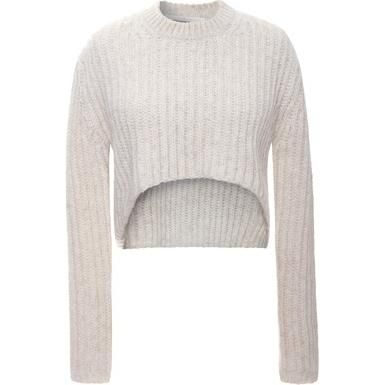Jaime King wearing Thakoon Addition Floating Cable Cropped Pullover