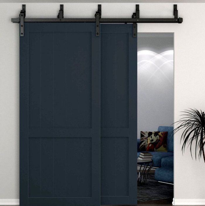 Bypass And Double Door Hardware To Re Invigorate Closets Or Other Large Openings Bypass Barn Door Hardware Barn Doors Sliding Double Barn Doors