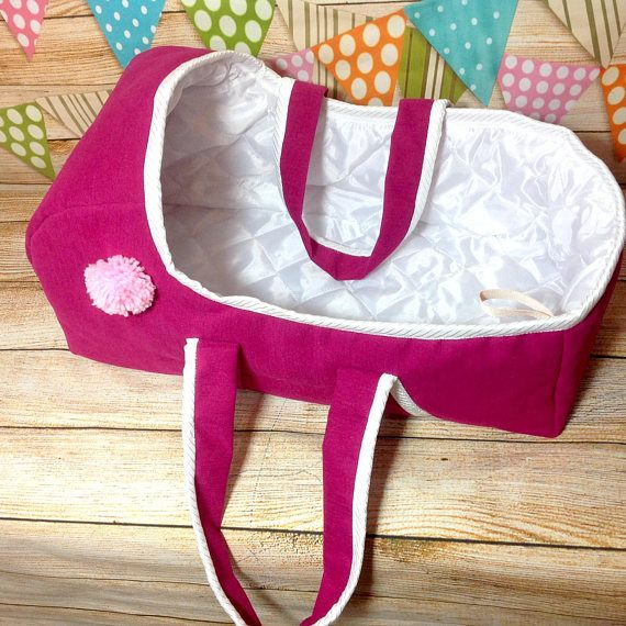 "Large Baby #Doll Basket, American Doll 18"", Baby carrier, Baby doll basket, Doll bed, Doll accessories, Baby bag, Doll Bassinet  This baby doll basket is a traditional, conv... #doll"