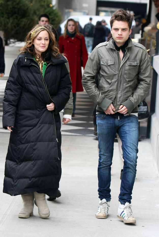 Here he is in 2009 taking a break from filming Gossip Girl with co-star Leighton Meester.