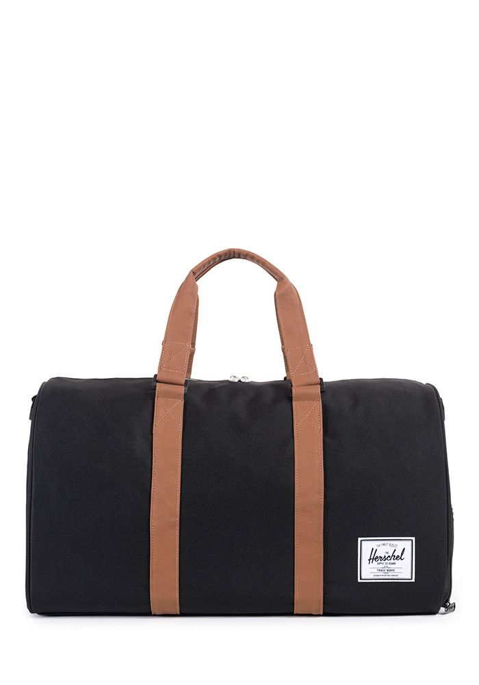 Novel Black and Tan Duffle Bag
