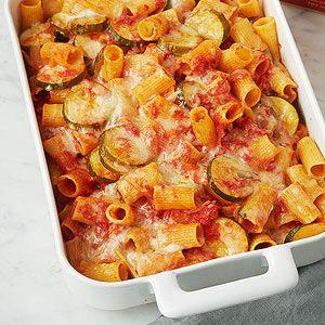 Baked Rigatoni and Zucchini Casserole
