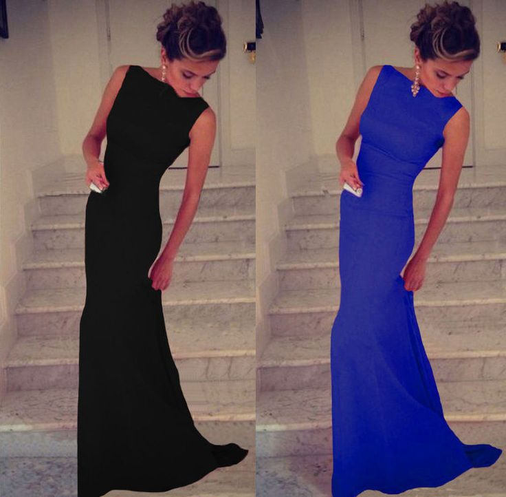 Sexy Womens Long Bodycon Prom Ball Cocktail Party Dress Formal Evening Gown in Clothes, Shoes & Accessories, Women's Clothing, Dresses   eBay