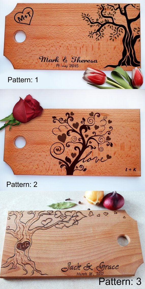 Cutting board Personalized wedding gift  handmade by SantianShop
