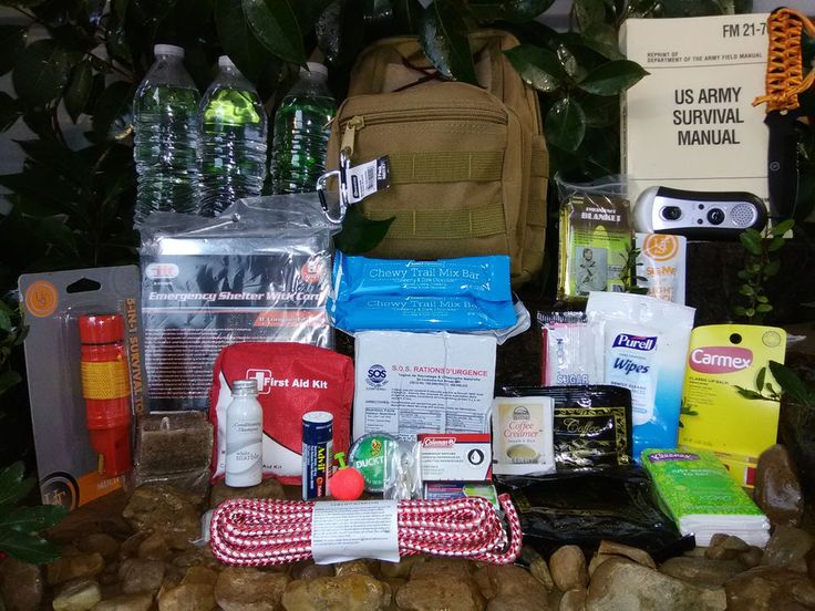 New Compact Emergency Bug Out Disaster Survival Kit W Bonus Gift survival manual #Unbranded