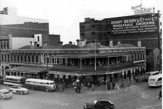 Windsor Castle Hotel,Adelaide,South Australia  just before demolition in 1949.
