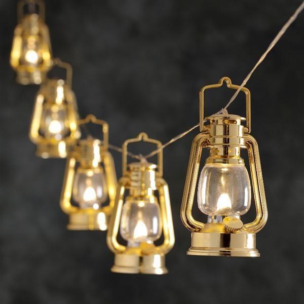 Konstsmide 4128-800 LED Gold Lantern Christmas Lights