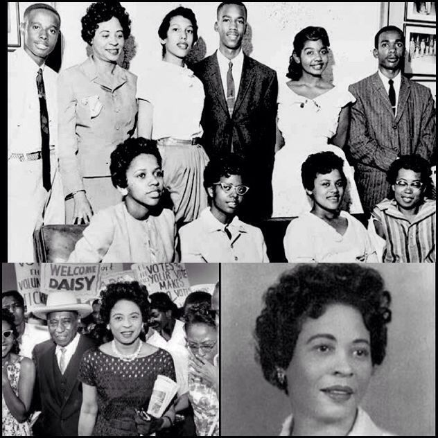 """One of the Unsung Heroes of the Civil Rights Movement, Daisy Lee Gatson Bates,was a mentor to the Little Rock Nine, who integrated Central High School in Little Rock (1957). They gained recognition for their courage & persistence during the desegregation of Central High when Gov Orval Faubus ordered the National Guard to prevent their entry. """"Daisy Bates was the poster child of black resistance. She was a quarterback, the coach. We were the players,"""" says Ernest Green, one of the Little Rock…"""