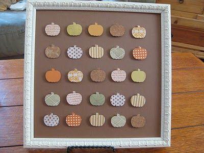Framed Pumpkin Patch