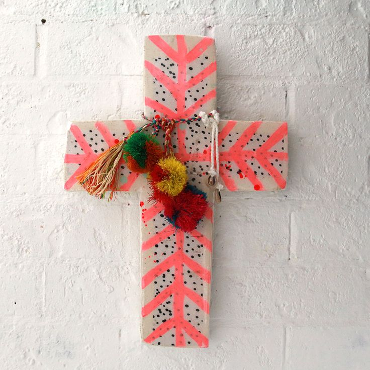 JAI VASICEK PINK TRIBE LARGE CROSS