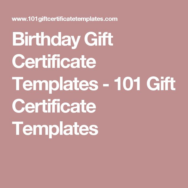 14 best Birthday ideas images on Pinterest Anniversary gifts, Cv - sample birthday gift certificate template