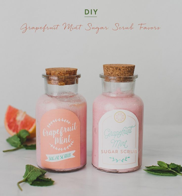 how to make your own sugar scrub for wedding shower