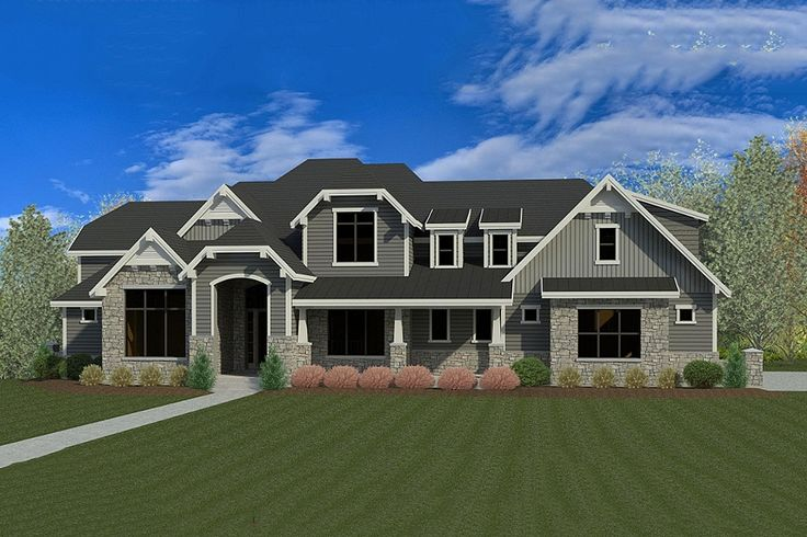 <div><ul><li>Designed for a large family, this super Craftsman house plan has living areas on three levels.</li><li>It can easily accommodate multi-generational living should the grandparents need a home.</li><li>A beautiful, wide two-story foyer sets the stage for the elegance within.</li><li>The vaulted and beamed great room has a corner fireplace and is open to the dining room and kitchen, giving you wonderful sight lines.</li><li>Step out onto the rear covered deck when you want a…