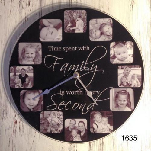 Personalised acrylic photo clocks
