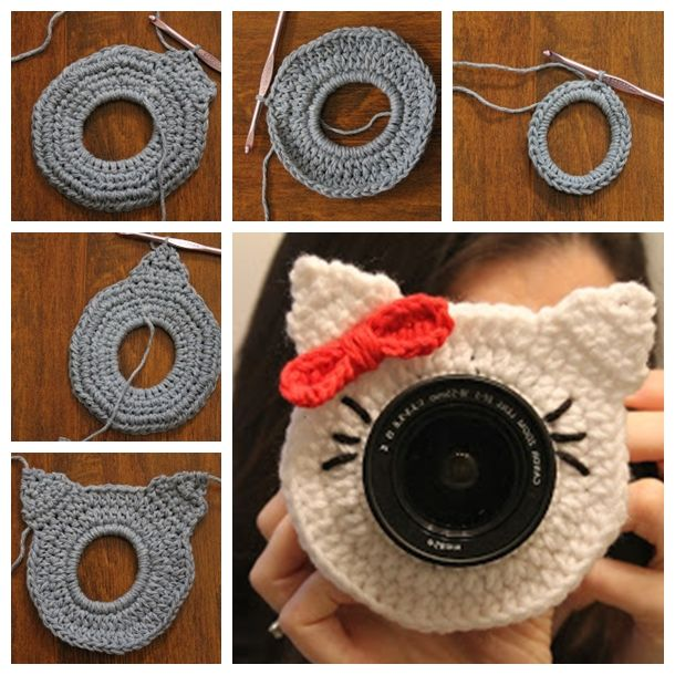 Free patterns for crochet camera lens friends --> http://wonderfuldiy.com/wonderful-diy-adorable-crochet-camera-lens-friends/ #diy #freepattern
