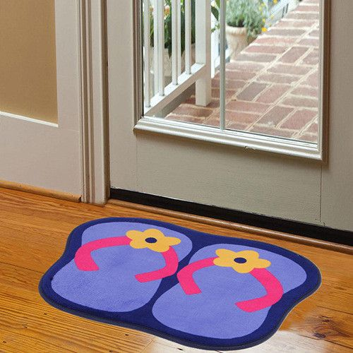 Free shipping Cute Slippers Non Slip Bath Mat Microfiber Chenille Bathroom Mat and Toilet Rug Bedroom Door Carpet U0424