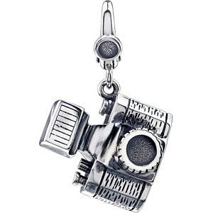 Charm Bracelet Charms | Sterling Silver Camera Charm for Charm Bracelet