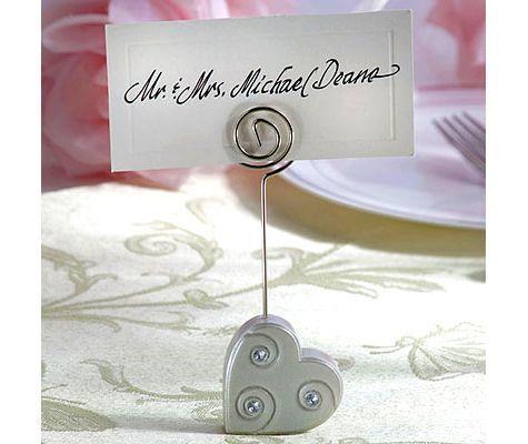 Heart Place Card Holder Wedding Favor