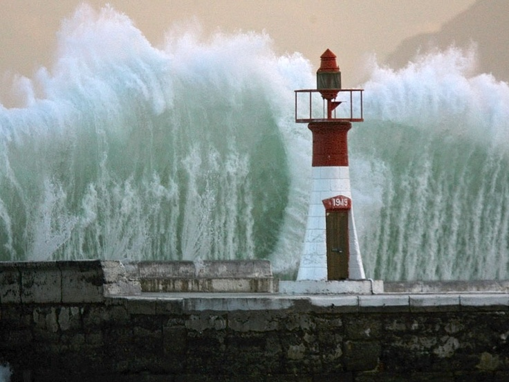 Massive Wave, Kalk Bay, Breakwater Light, Cape Town, South Africa