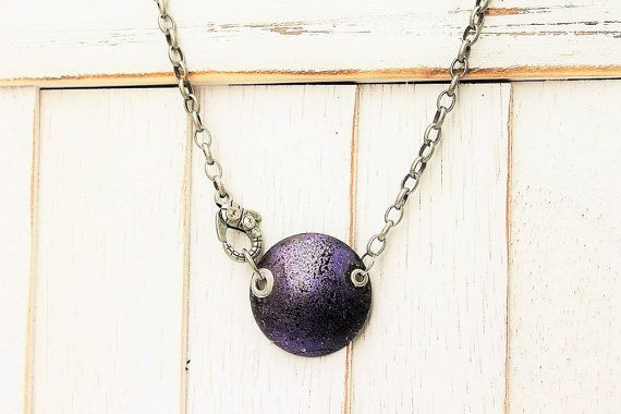 shoes Necklace Cir      Inside      off Jewelry Rustic   Circle Code online     StatementNecklace Purple w   Circle Handmade Purple FUELLJewelry Necklace  cortez by   Rustic