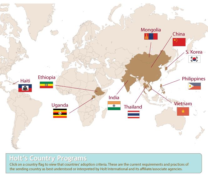 International Adoption with Holt International. Country Requirements