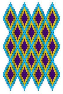 Medieval Arts & Crafts: Brick stitch pattern #6