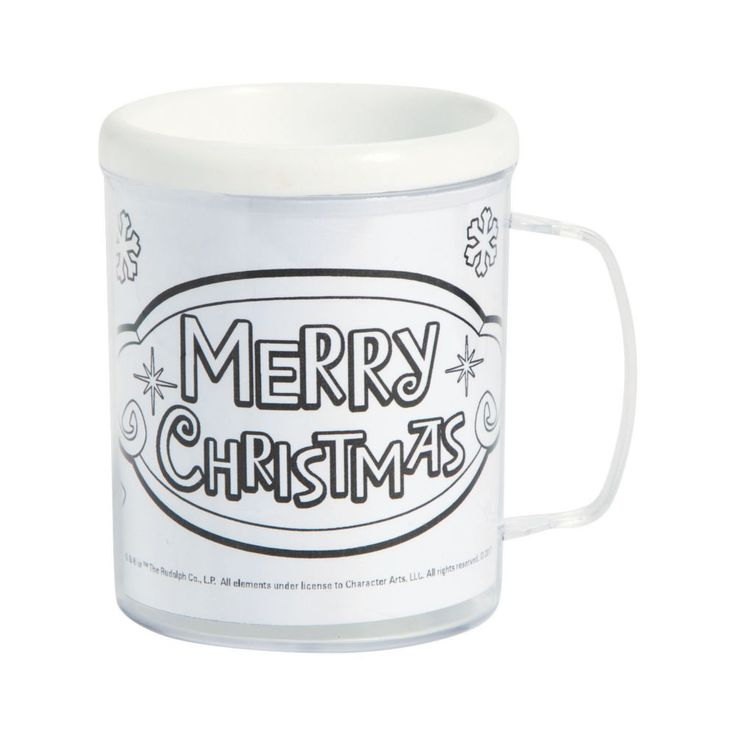 Color Your Own Rudolph the Red-Nosed Reindeer<sup>®</sup> Plastic Mugs