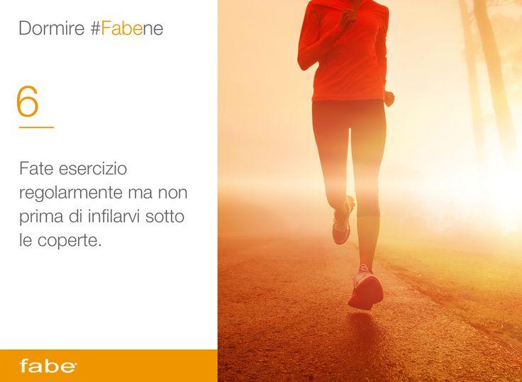 Fate esercizio regolarmente ma non prima di infilarvi sotto le coperte #dormire #bene #dormire #fa #bene #consigli #fabe